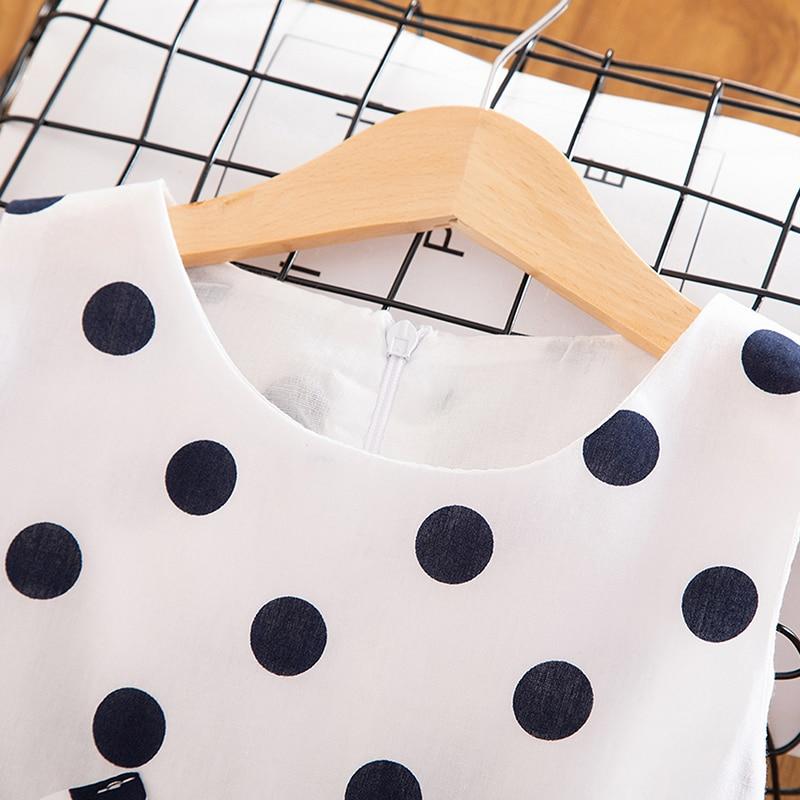 3-12 Years Girls Polka-Dot Dress 2021