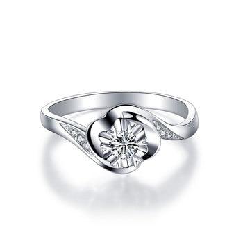 1 Carat 18k Gold And White Gold Diamond Engagement Ring