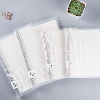 Korean Creative Simplicity PP Cover Loose-leaf Notebook Stationery B5 A5 Replaceable Horizontal Line Planner Diary Notepad creative stationery elegant flower chinese wind diary horizontal line small travel planner diary book notebook dd1358