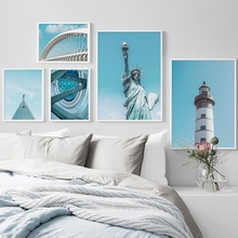 Lighthouse Bridge Statue Of Liberty Wall Art Print Canvas Painting Nordic Posters And Prints Pictures For Living Room Decor
