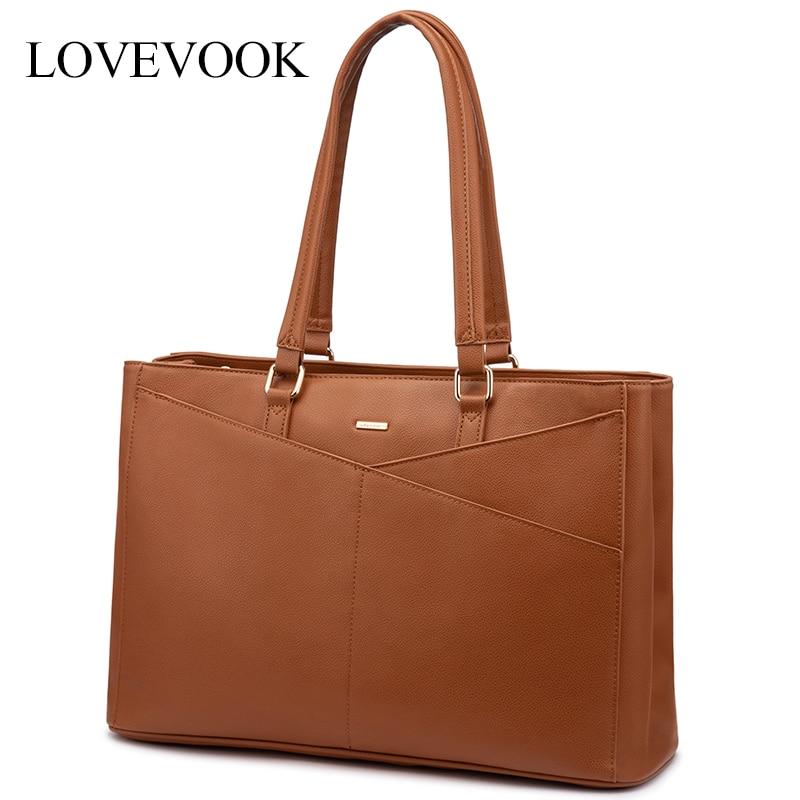 LOVEVOOK Women Laptop Bags 15.6 Inch Office Bag For Ladies Luxury Handbags Shoulder Bags Female Large Tote Bags For School/work