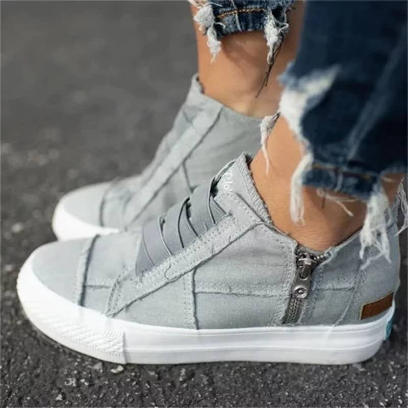 Plus Size Casual Women Shoes 2020 Summer New Elastic Band Women Canvas Shoes Ladies Sneakers  Zapatos Mujer VT1223 (4)