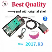 2021 OBD2 Diagnostic with shell 2017.r3 keygen for delphis With Bluetooth vd ds150e cdp Pro Plus New Vci scanner Multi Language
