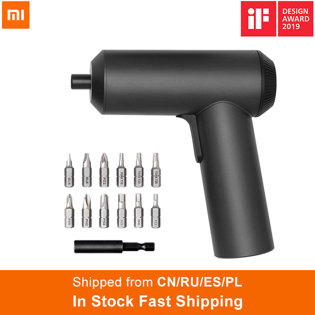2019 Xiaomi Mijia Electric Screwdriver With 12Pcs S2 Screw Bits 3.6V 2000mah Cordless Rechargeable Electric Screwdriver In Stock