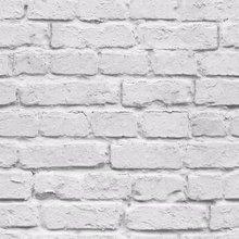Papel pintado con efecto de ladrillo blanco 3D rollo de papel tapiz gris claro vinilo rústico moderno PVC papel de pared de ladrillo falso decoración de sala de estar dormitorio