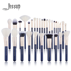 Jessup brushes Makeup brushes set 6pcs-30pcs Prussian Blue/Golden Sands Foundation brush Eyeshadow Powder Make up brush
