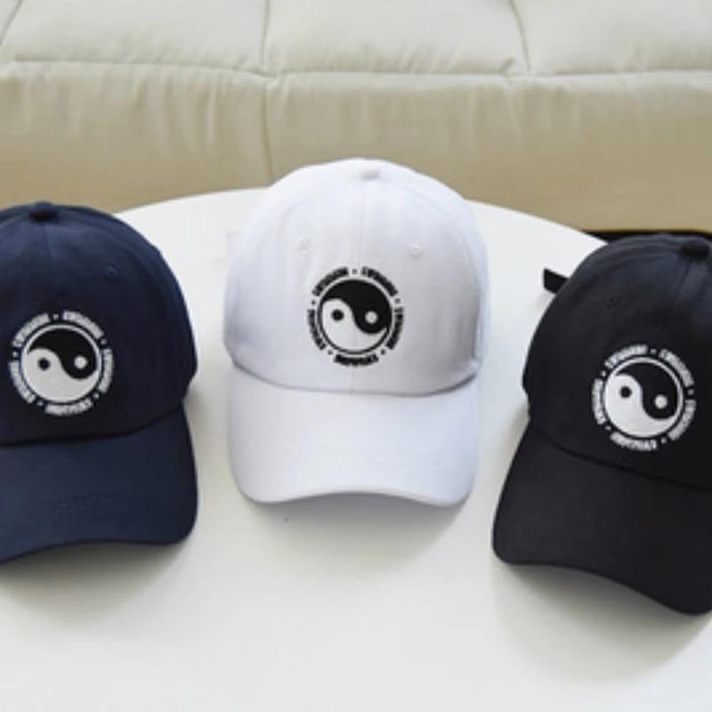 Hat 100/% Cotton Swimming Yin and Yang Gossip Embroidered Hat Snapback Baseball