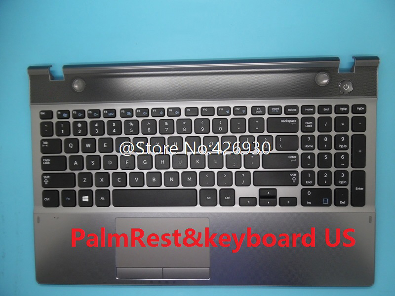 Laptop PalmRest&keyboard For Samsung NP550P5C 550P5C English US France FR Italy IT Korea KR Spain SP Upper Case Cover Touchpad image