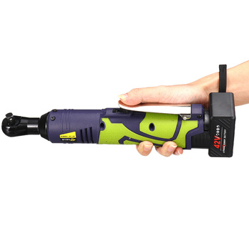 New 42V Cordless Electric Ratchet Wrench 3/8 Inch Angle Drill Screwdriver Wrench Scaffolding 80NM with Rechargeable Spanner
