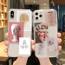 Einzigartige David Klar kunst Telefon Fällen Transparent für iPhone 6 7 8 11 12 s mini pro X XS XR MAX Plus