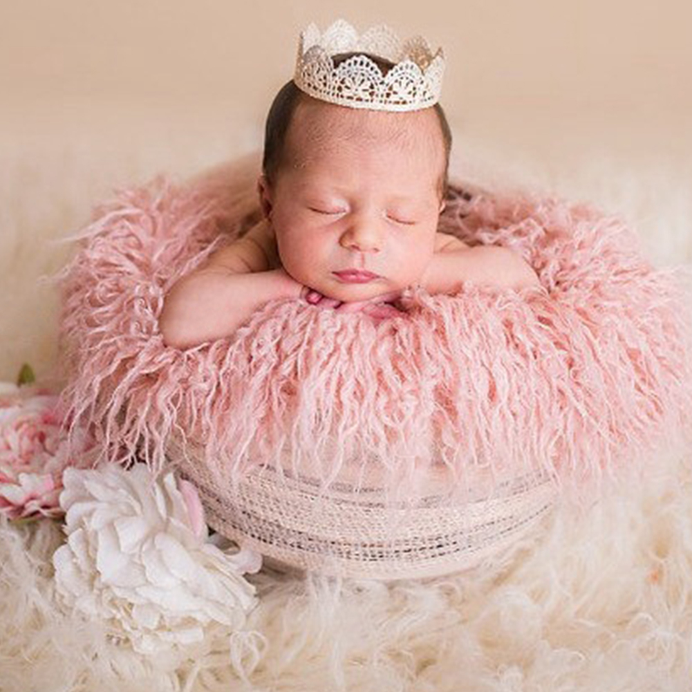 Background Photography Props Baby Blanket Warm Swaddling Wraps Comfortable Mat Solid Soft Reusable Newborn Artificial Fur