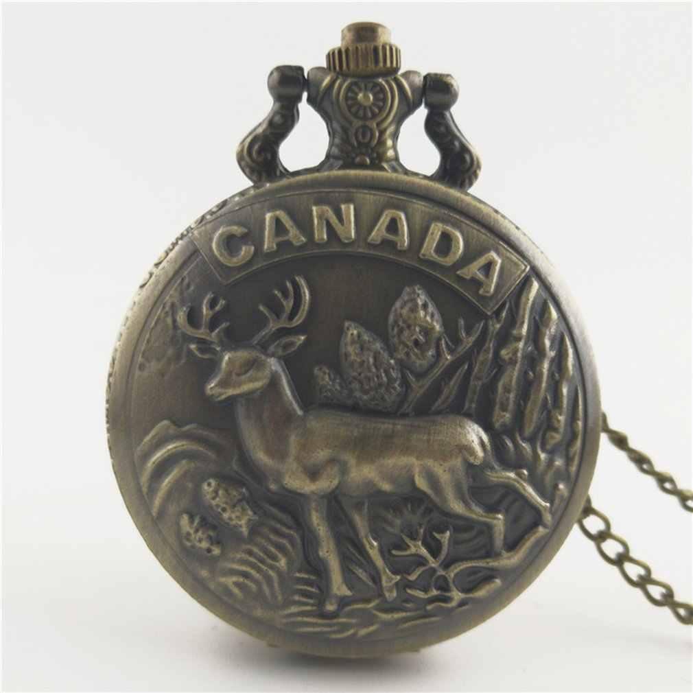 Animal sculpté Vintage Antique cadran rond Quartz montre de poche collier pendentif horloge pour hommes femmes meilleurs cadeaux