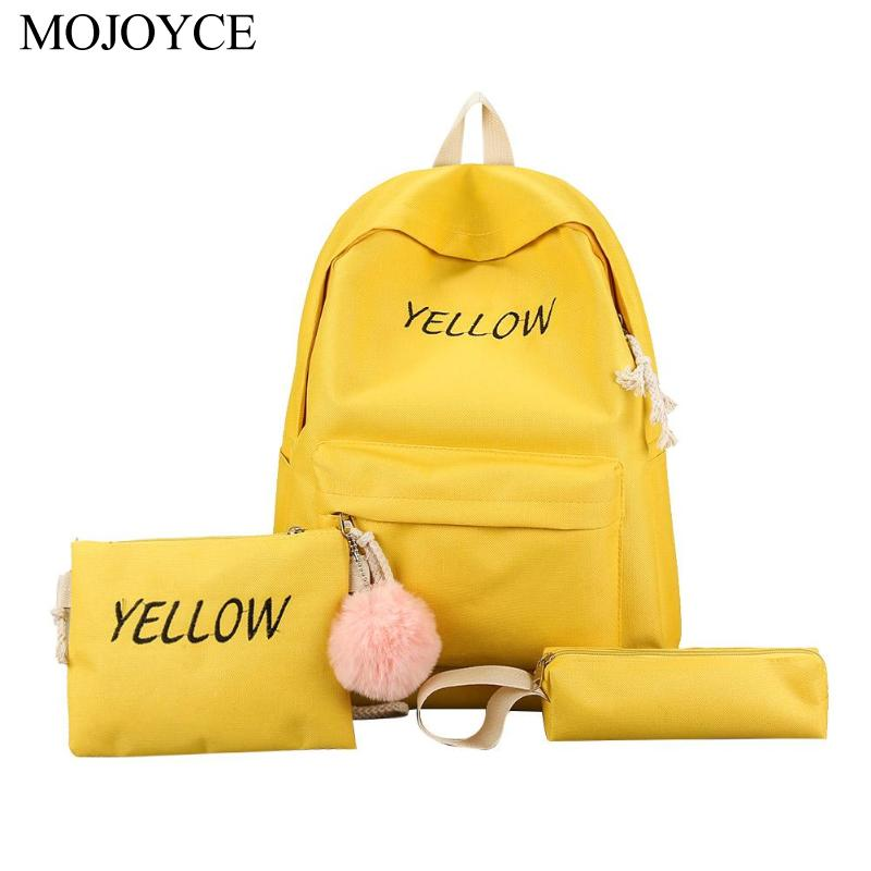 Leisure Women Backpack Ball Canvas School Shoulder Bags For Fashion Teenager Girls Preppy Style Rucksack Cute Knapsack Pen Bags