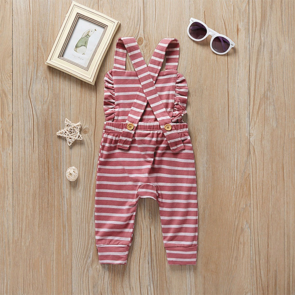 H235ef5bae7734d989d5926dc3b528ffdl Newborn Baby Girl Boy Backless Striped Ruffle Romper Overalls Jumpsuit Clothes Onesies kid clothing toddler clothes baby costume