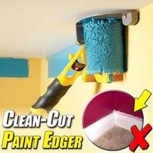 Cepillo de rodillo para bordes de pintura de corte limpio, herramienta con borde para el hogar, zócalo, puerta, embellecedor, pared, techo, pintura, herramientas de tratamiento de pared
