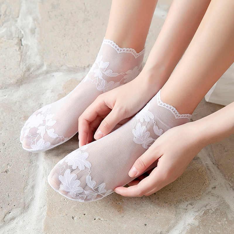 Skarpetki damskie rurki bawełniane dezodorant oddychające japońskie słodkie kreskówki pończochy wiosenne i letnie przypływ Ins Harajuku koronkowe skarpety