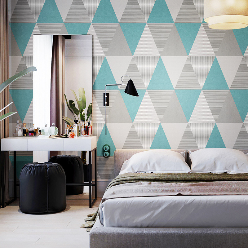 Fashion Simple Geometric Pattern Clothing Wallpaper Store Northern European-Style Cool Bedroom Living Room Restaurant Wall Wallp