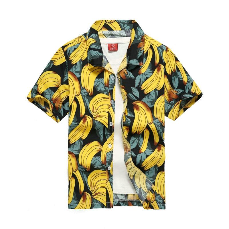 2019 Fashion Mens Short Sleeve Hawaiian Shirt Fast drying Plus Size Asian Size S-5XL Summer Casual Floral Beach Shirts For Men