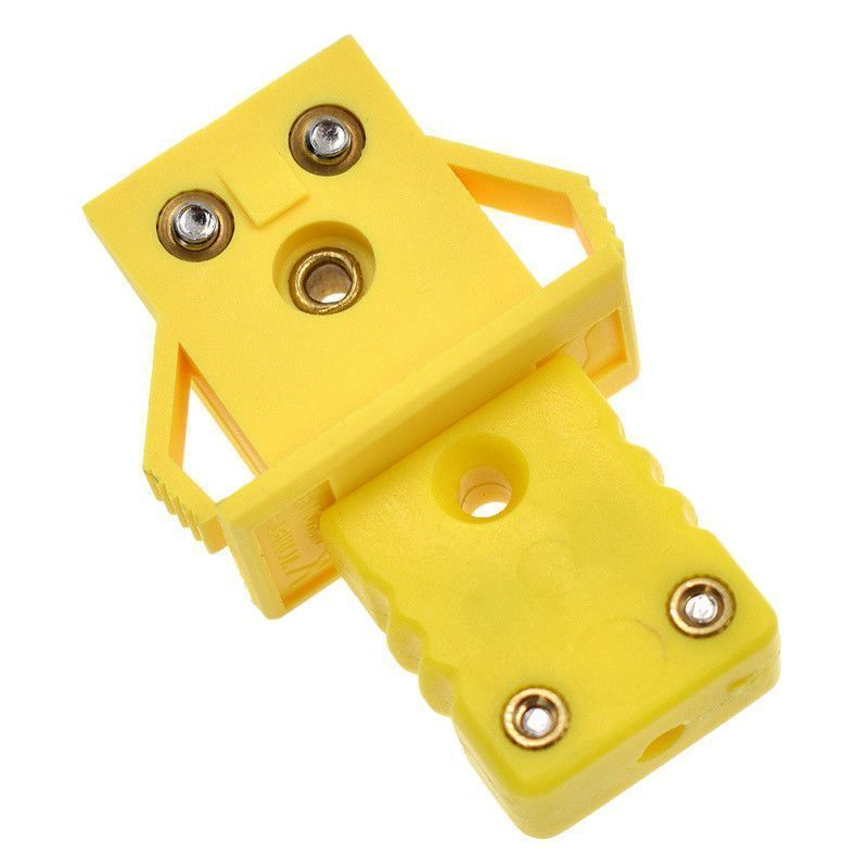 Yellow Socket Plug Thermocouple Miniature Panel Mount Alloy Connectors Set Kit