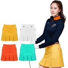 Женская юбка для гольфа на подкладке для бадминтона и настольного тенниса, короткая юбка s, Женская плиссированная короткая юбка с карманами, спортивная одежда для гольфа D0670