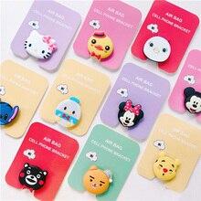 Air Bag Telefone Celular Suporte Do Telefone Titular Dedo Suporte Bonito do Ponto Pooh Mickey Minnie Para o iphone Samsung Suporte Do Telefone Universal XR