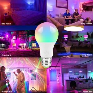 Image 5 - 7W Smart WiFi Light Bulb E27/B22/E14/GU10 RGBW Dimmable Wireless WiFi Remote Control Bulb Lamp Light For Echo Alexa Google Home