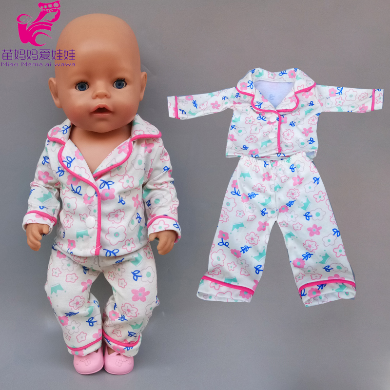 Doll Clothes Pajama Overall For 43cm 40cm Baby New Born Doll Clothes Children Girl Toys Outfits