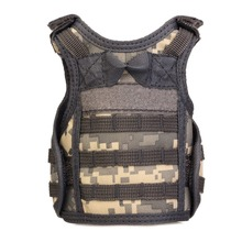 Tactical Vest Layer Military Beer Bottle Cover Beverage Cooler Mini Molle Vest Adjustable Shoulder Straps for Bottle Can 1pc galaxy printing can cooler holder beer wine beverage drinking bottle sleeve cover party home decoration drinkware case