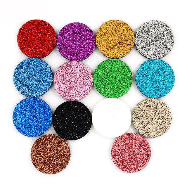100 unids/lote 22,5mm Glint almohadillas de fieltro de aromaterapia aptas para medallón con difusor de perfume de aceite esencial de 30mm medallón flotante LSPA06