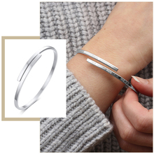 Temperament Thin Bangle for Women Customized Name Inspirational Words Quotes Stainless Steel Cuff Bracelet Candid Party Jewelry