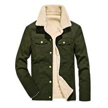 Men for Winter Warm Bomber Jacket Air Force Pilot MA1 Mens Fur Collar Army Tactical Fleece Coat 4XL
