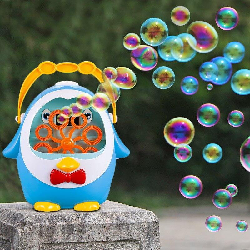 Пингвин полностью автоматическая воздушно-пузырчатая воздуходувка для выдувания воды игрушки пузырьковое мыло уличные детские игрушки родитель-ребенок Интерактивная Подарочная игрушка для ребенка