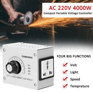 Image 5 - Regulador de voltagem variável compacto, regulador de temperatura de velocidade portátil, ajustável, tensão, transformator 220v 12v