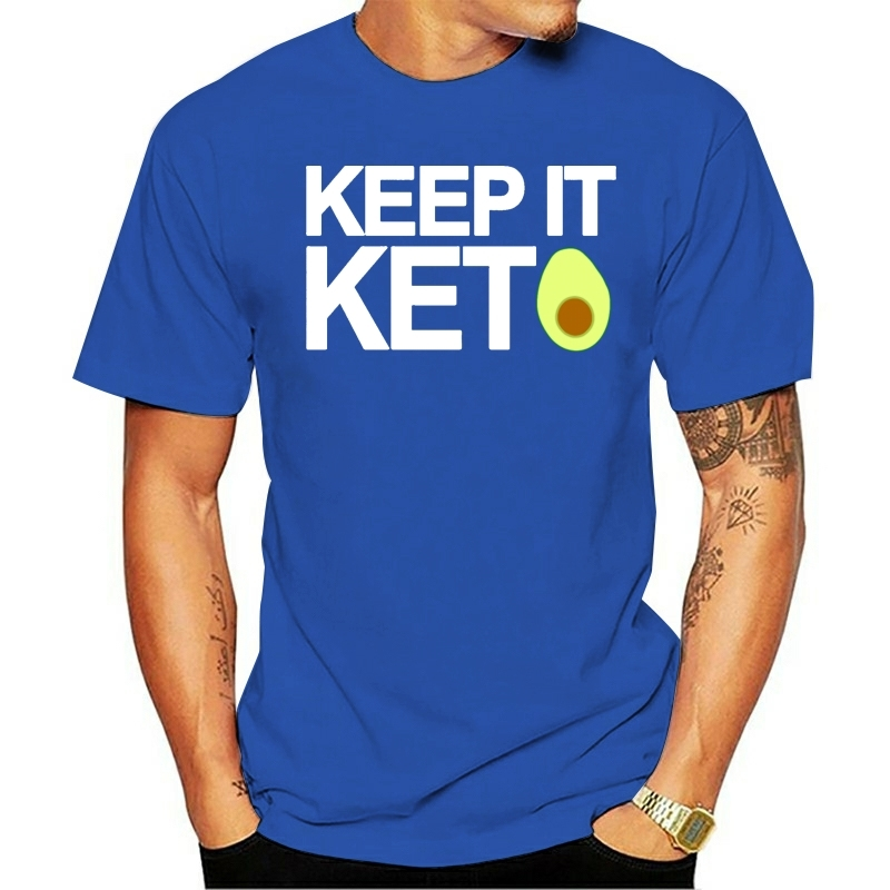 Keep It Keto T Shirt Design 100% Cotton Round Collar Basic Solid Famous Casual Spring Outfit Shirt