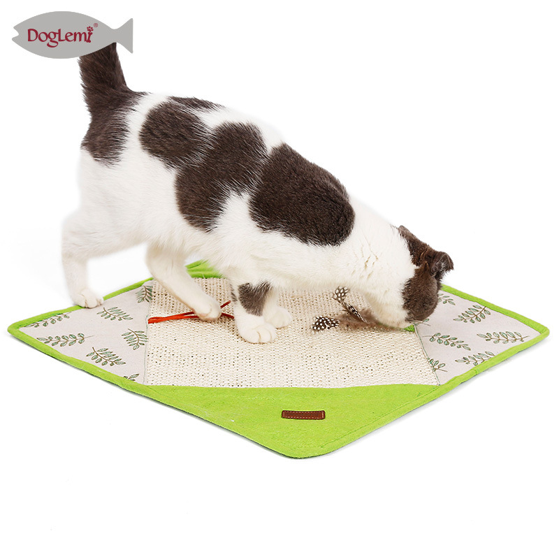 Day Wind Cat Blanket Sisal Pajama Claws Grinding Pad With Xiang Zhi Multi-functional Cat Natural Cat Toy Blanket