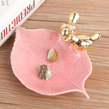 Ceramic Jewelry Dish Plate Tray Creative Mini Bird Decorative Trinket Holder Display Container