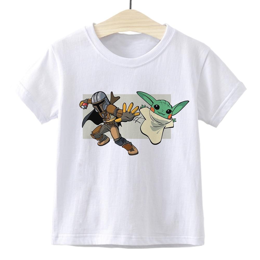 Baby Yoda Toddler Boys Tshirts Girl Tshirt Children Tops Mandalorian T Shirt For Boys Kids Star Wars Clothes