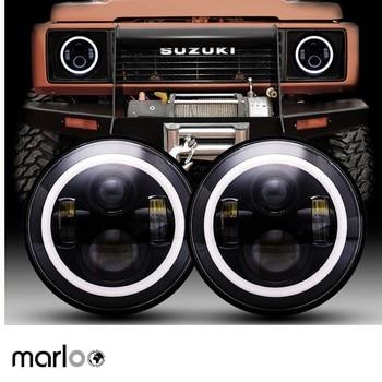 2pcs 7 Inch Round LED Headlight For Jeep Wrangler JK TJ For Hummer H1 H2 12V 24V For Suzuki Samurai Lada 4x4 urban Niva 1