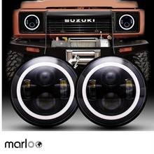 2 sztuk 7 Cal okrągłe LED reflektor do jeepa Wrangler JK TJ dla Hummer H1 H2 12V 24V dla Suzuki Samurai Lada 4x4 miejska Niva