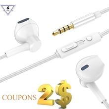 Ssmarwear P7 סטריאו בס HIFI מוסיקה אוזניות ב אוזן Wired אוזניות עם מיקרופון אוזניות עבור Xiaomi אנדרואיד IOS נייד טלפונים