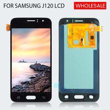 Бесплатная доставка OLED для Samsung Galaxy J120 Lcd J1 2016 дисплей J120F Сенсорная панель экран дигитайзер в сборе с инструментами