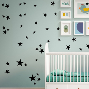 Baby Room Stars Wall Sticker For Kids Baby Nursery Rooms Wall Decals Home Decor Boys Girls Gifts Little Star Art Mural Wallpaper