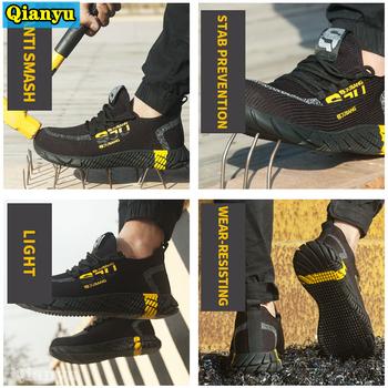 2021 nowe męskie i damskie buty robocze bhp anty-przekłuwające buty do pracy nadają się do stal zewnętrzna-toed anti-smashing i tanie i dobre opinie HAIMAITONG NONE CN (pochodzenie)