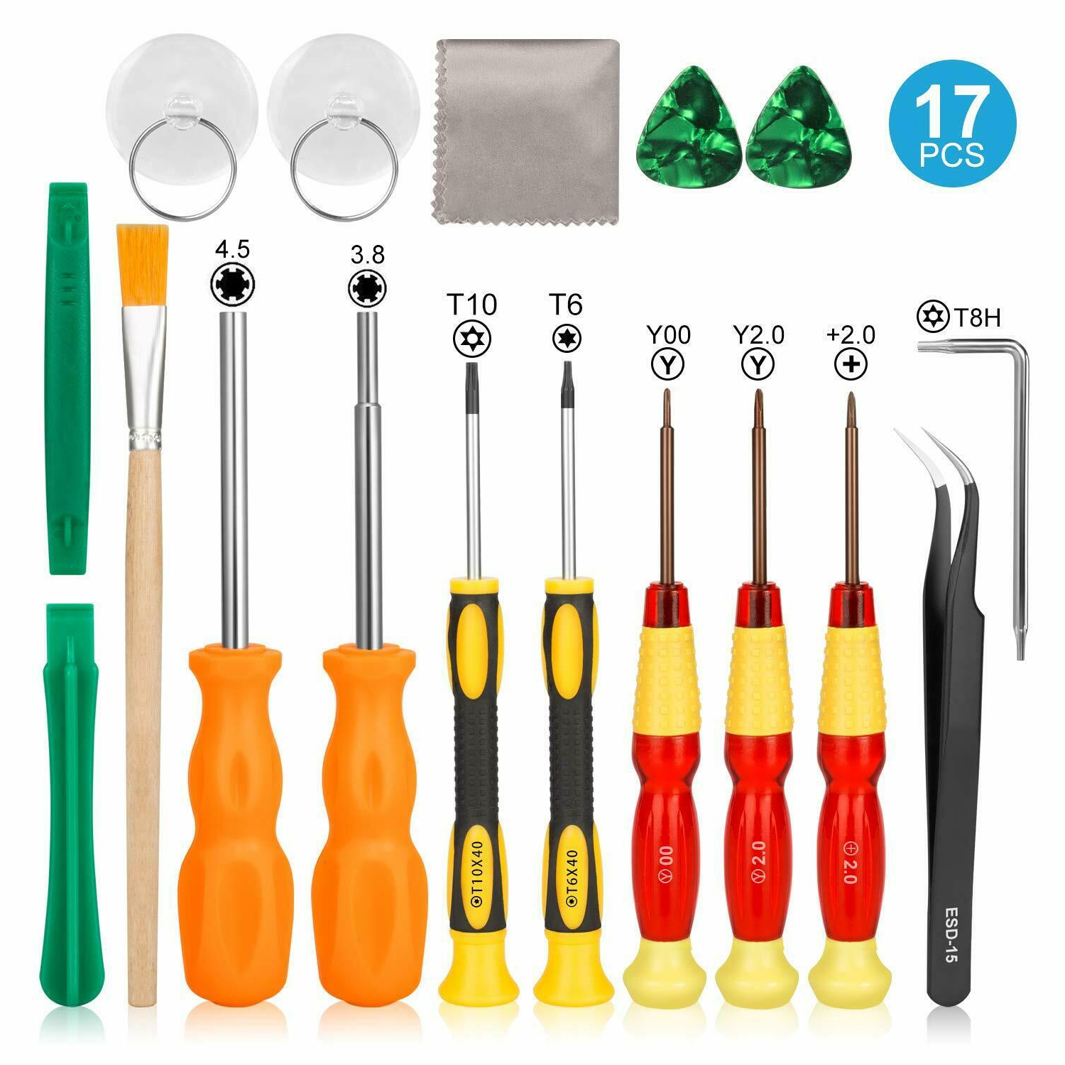 Bevigac 17 in 1 Professional Security Game Bit Repair Tools Screwdriver Kit Set for Nintendo Nintend Switch 3DS 2DS Gamecube