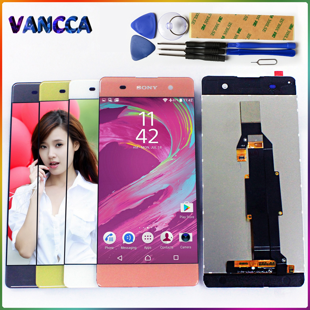 Touch Screen For SONY Xperia XA 5.0 inch F3111 F3112 F3115 F3116 LCD Display Digitizer  Sensor Glass Panel Assembly Free Tools-in Mobile Phone LCD Screens from Cellphones & Telecommunications on AliExpress - 11.11_Double 11_Singles' Day 1
