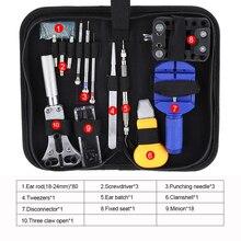 Kit de herramientas de reparación de relojes, novedad, Kit de herramientas de reparación de relojes, removedor de pasadores de enlace de reloj, abridor de caja, removedor de barra, relojero, Gereedschap