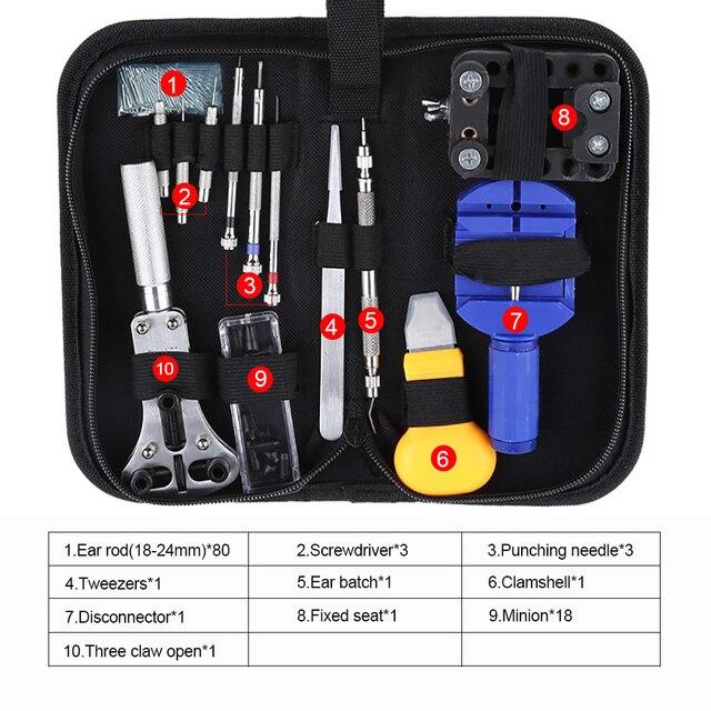 Neue Uhr Reparatur Werkzeug Kit Uhr Link Pin Remover Fall Opener Frühling Bar Remover Horlogemaker Gereedschap Reparatur Tool Kit