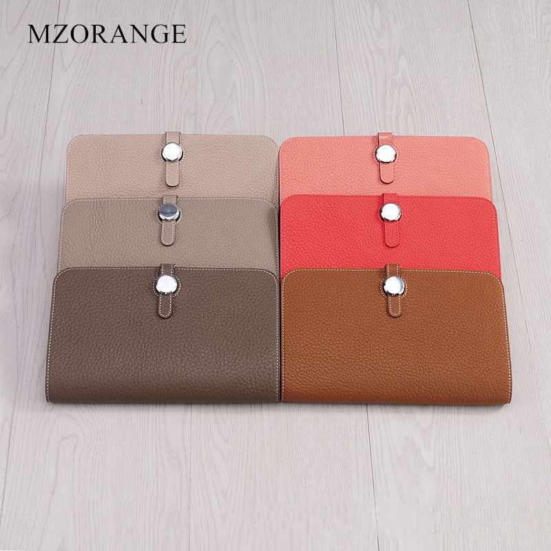 Luxury Genuine Leather Women Wallet 2018 Fashion Designer Wallets Famous Brand Ladies Cowhide Purse Money Bags Eleven colors