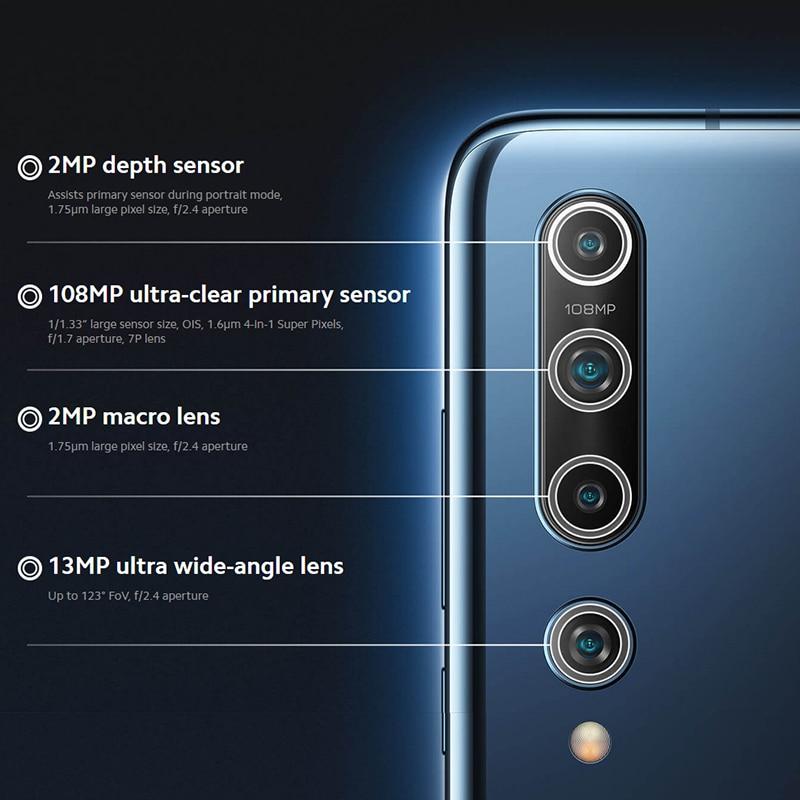 Xiaomi Mi 10 8GB 128GB Globale Version Smartphone 5G 108MP Handy Snapdragon 865 Octa Core 6.67