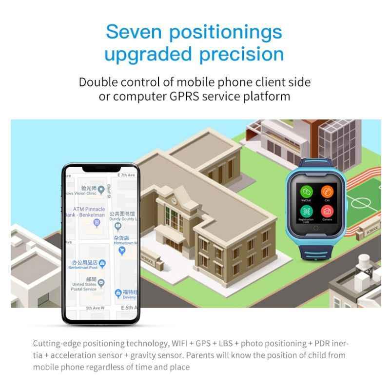 4G smart watch para as crianças com tela de toque GPS SOS telefonema SIM crianças relógio à prova d' água com câmera crianças LEMFO watche